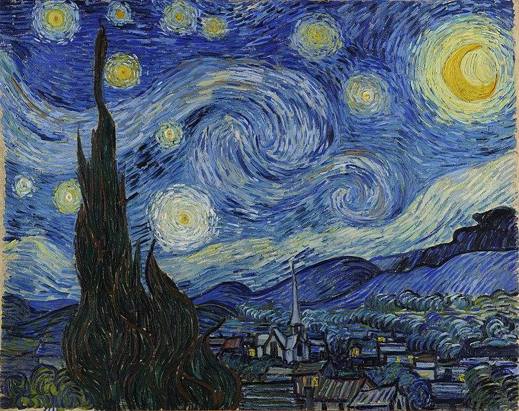 The Starry Night yıldızlı gece vincent van gogh dünyanın en ünlü tabloları listelist