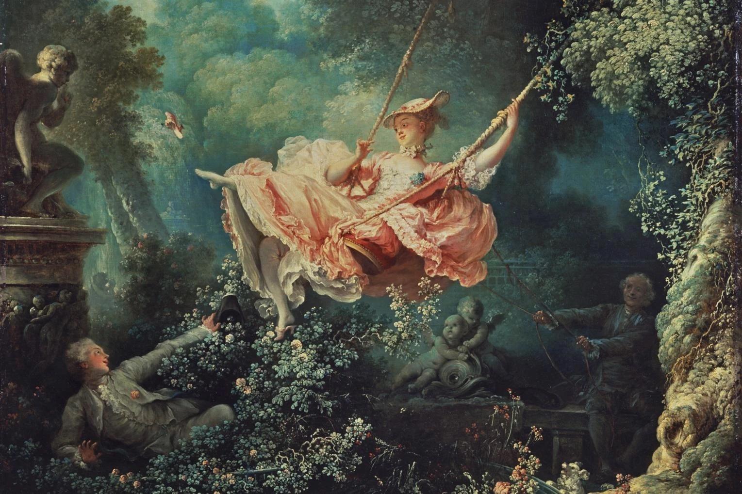 dünyanın en ünlü tabloları listelist The Swing Salıncak Jean Honore Fragonard