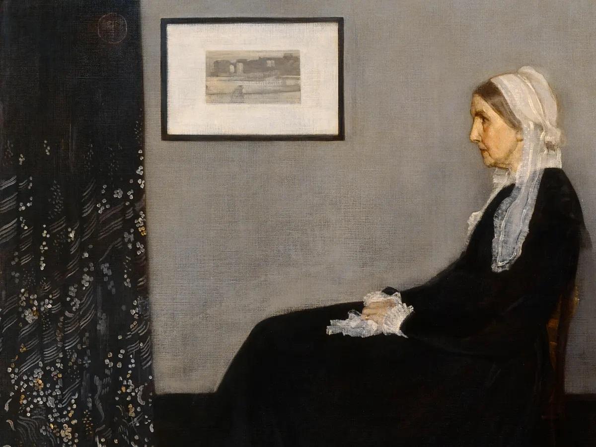 Whistler's Mother Whistler'ın Annesi James Abbott McNeill Whistler dünyanın en ünlü tabloları listelist
