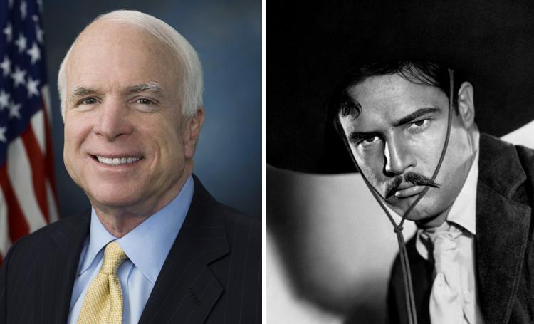 John McCain Viva Zapata ünlülerin favori filmleri listelist