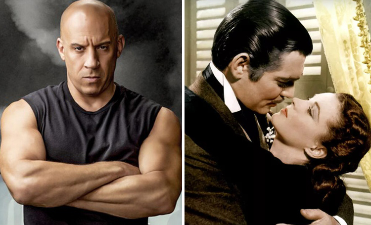 Vin Diesel Gone with the Wind ünlülerin favori filmleri listelist