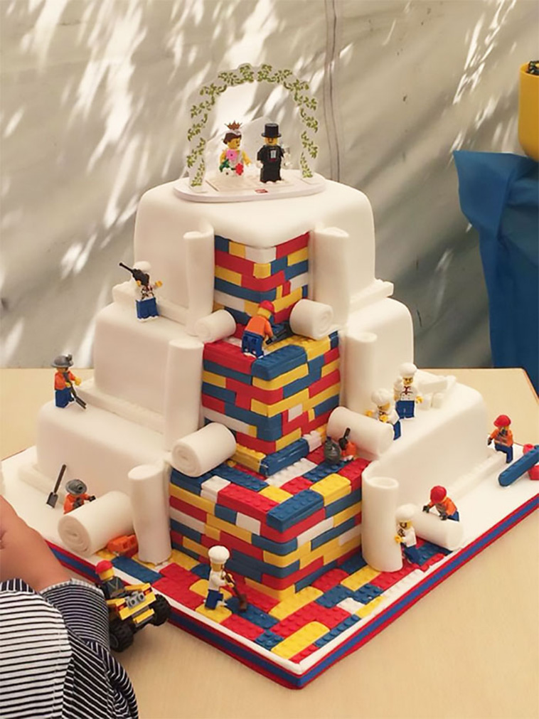 yaratıcı düğün pastaları