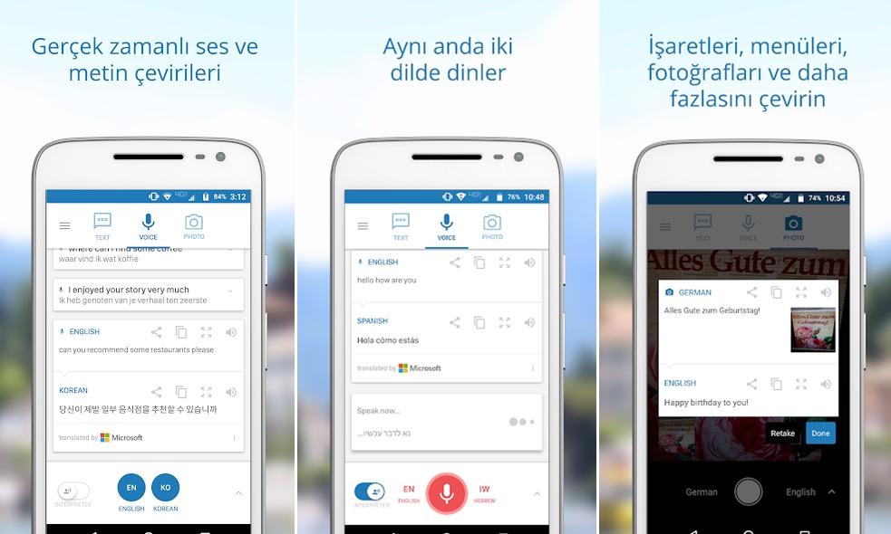 Çeviri uygulamaları