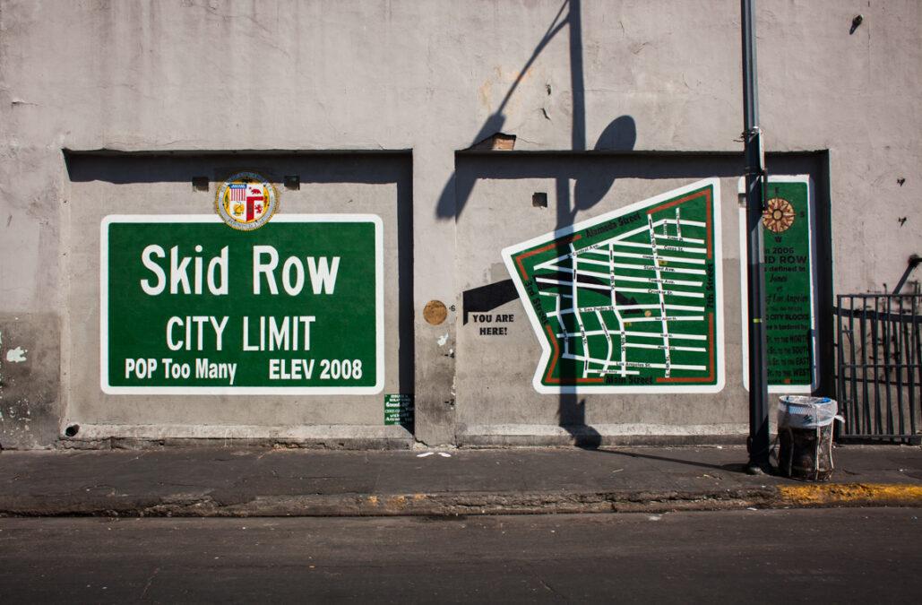 Skid Row City Limits Mural şehrin sınırları duvar resmi