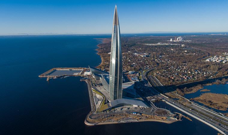 Lakhta Center dünyanın en yüksek binaları listelist