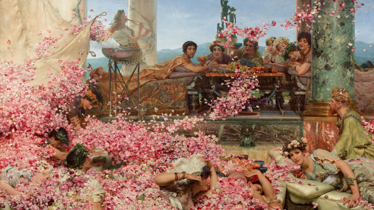 tarihin en zarif idamı Elagabalusun Gülleri Lawrence Alma Tadema Elagabalus roma imparatoru listelist