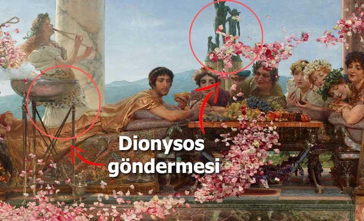 tarihin en zarif idamı Elagabalusun Gülleri Lawrence Alma Tadema Elagabalus roma imparatoru soylular listelist