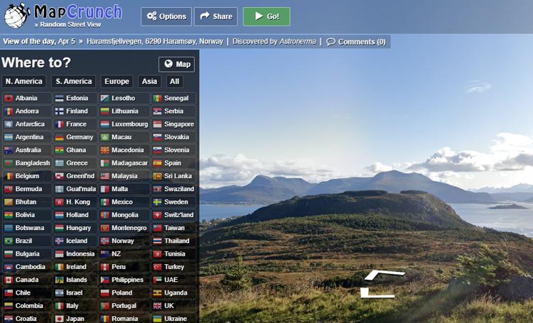 MapCrunch ilginç web siteleri ilginç internet siteleri listelist
