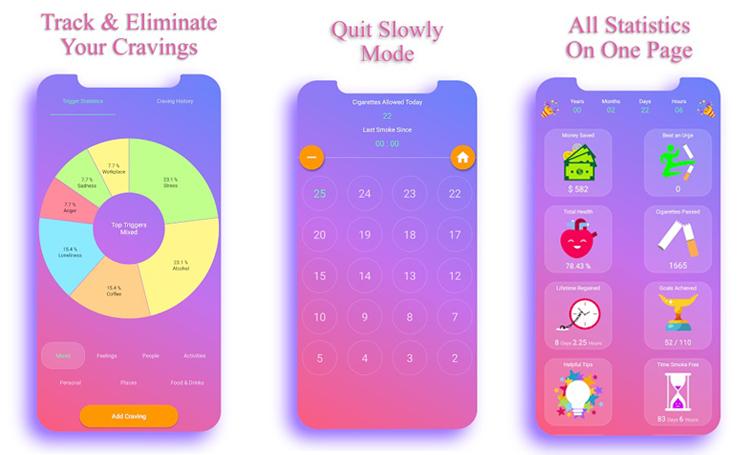 EasyQuit  sigara bırakma uygulaması stop smoking telefon app listelist
