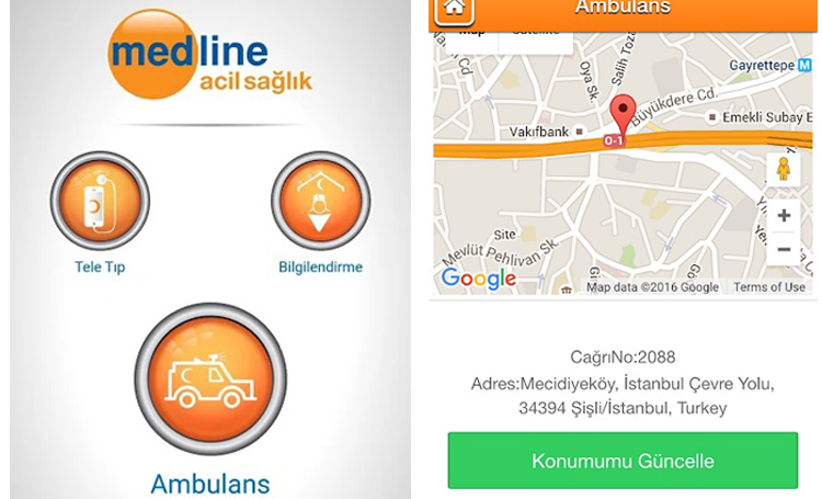 Medline Acil telefon
