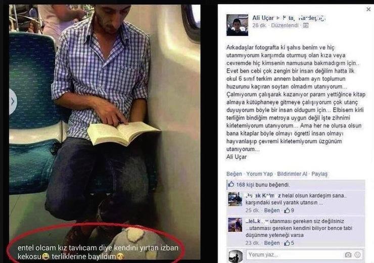 ali uçar terlik metro izban keko facebook paylaşımı listelist
