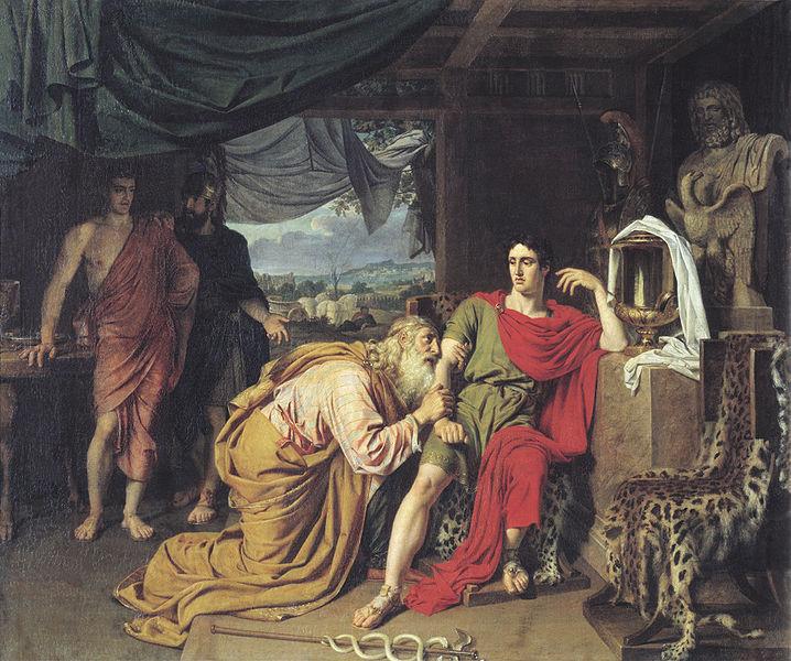 öpüşmenin tarihçesi neden dudaktan öpüşülür neden öpüşürüz listelist ilyada destanı Kral Priamos Akhilleus