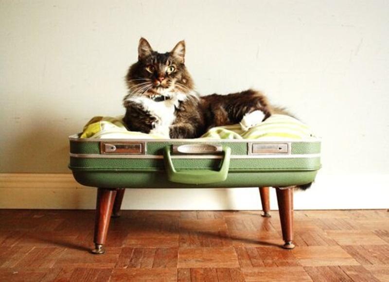 Eski bavullardan sepetler
