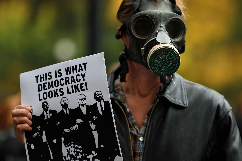 Occupy UC Davis Protests Police Pepper Spray Incident